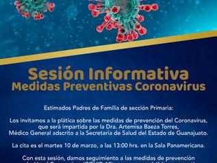 Sesión Informativa Coronavirus