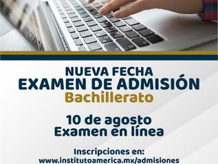 Examen de Admisión Bachillerato ¡NUEVA FECHA!