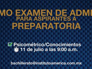 Último examen de admisión Preparatoria