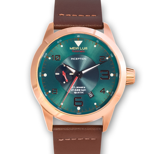 BOREAL MOONRISE | Bronze Gold Case / Cocoa Leather