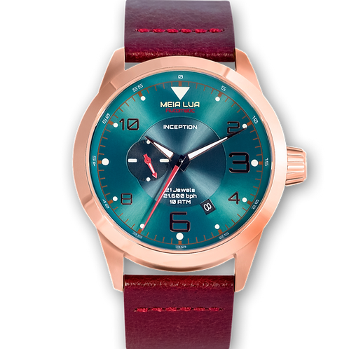 BOREAL MOONRISE | Bronze Gold Case / Burgundy Leather
