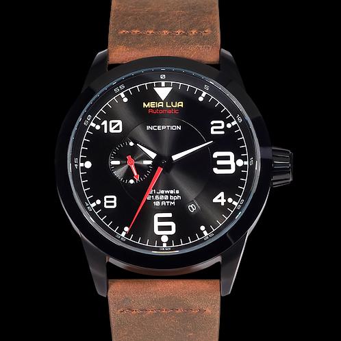 DEEPMOON BLACK | Distressed Brown Leather