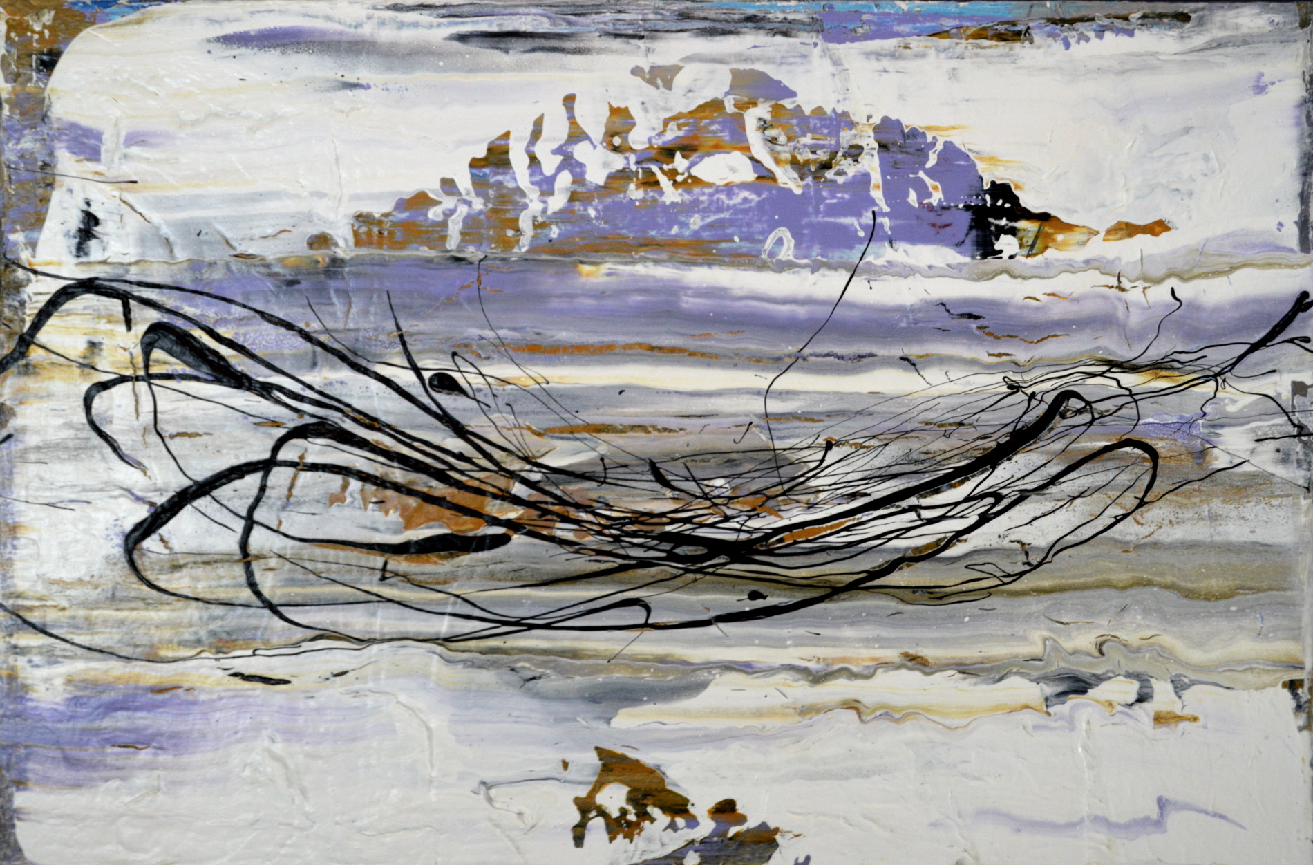 DISTURBANCE ON THIN ICE  32x24