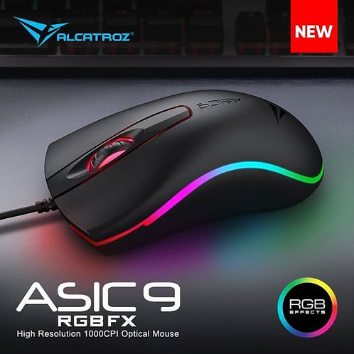 Alcatroz Gaming Mouse Asic 9 RGB FX 1000CPI Wired