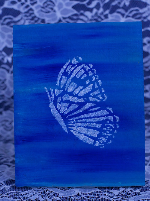 Hand Painted Butterfly Stencil
