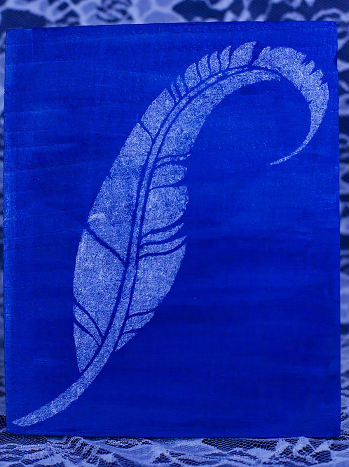 Hand Painted Feather Stencil
