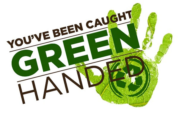 Caught Green Handed - America Recycles Day