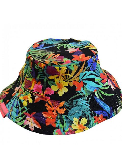 Chapeau anti uv Tropiques coloré et fleuri Mayoparasol