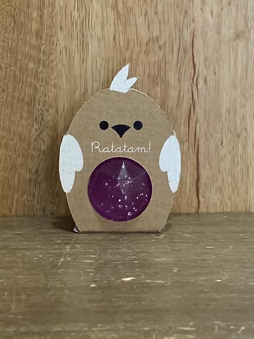 Balle oiseau rebondissante violet Ratatam