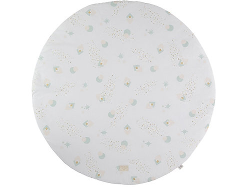 Tapis de jeu rond Aqua eclipse white Full Moon Small Nobodinoz