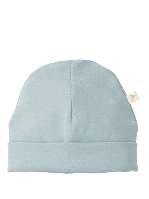 Bonnet de bébé uni bleu poudré Fresk
