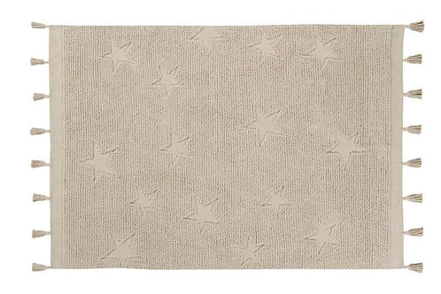 Tapis hippy stars natural Lorena canals