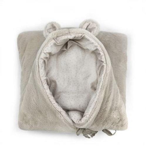Nid d'ange hiver Teddy soft beige Baby shower