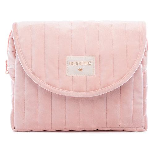Trousse de toilette Velvet Bloom pink Nobodinoz