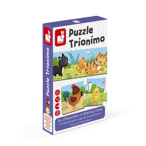Jeu d'association puzzle trionimo 30pcs Janod