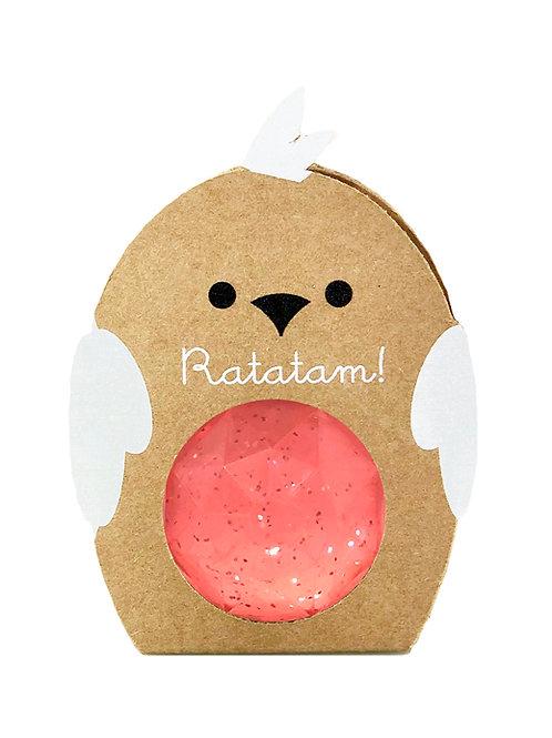 Balle oiseau rebondissante rose Ratatam