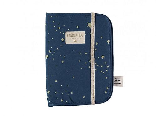 Protège-carnet de santé A5 Poema Gold Stella Night Blue Nobodinoz