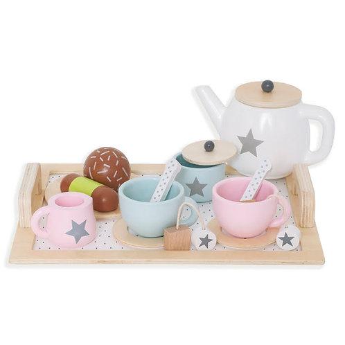 Service à thé en bois Jabadabado