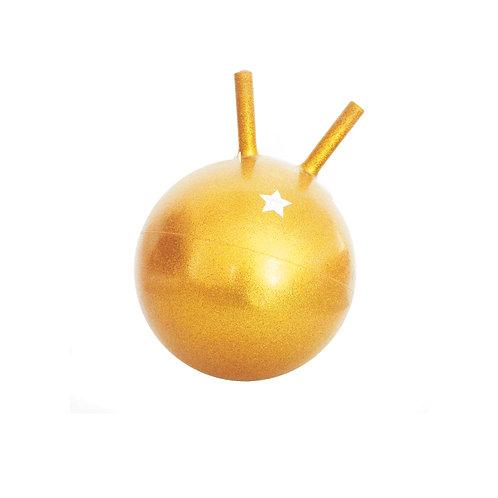 Ballon sauteur pailleté or Ratatam