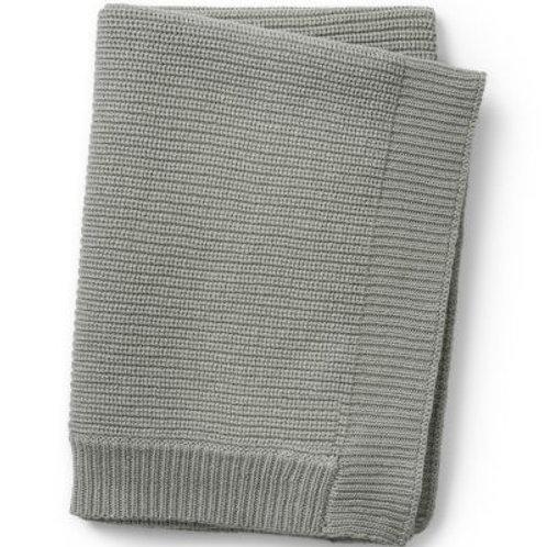Plaid en tricot Mineral green Elodie details