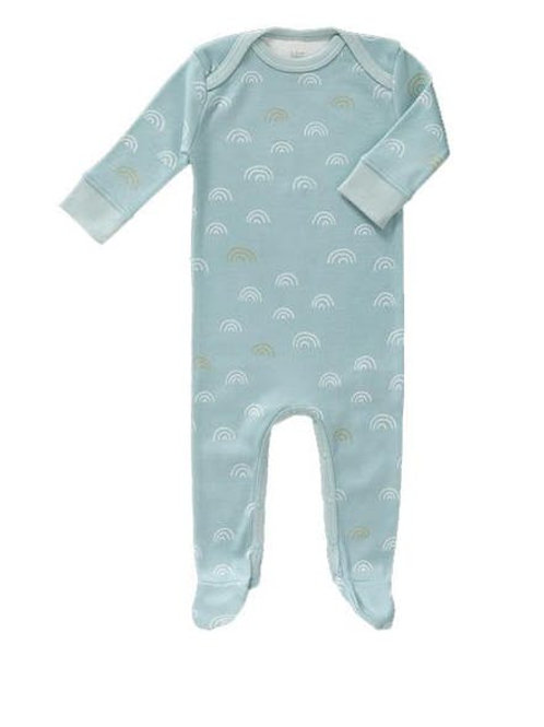 Pyjama avec pieds arc en ciel bleu Fresk