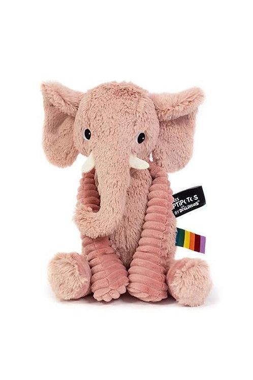 Peluche Ptipotos l'éléphant rose Les déglingos