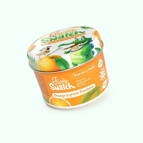 """Dentifrice enfant aux probiotiques """"Mandarine orange et verte""""Powdy&snatch"""