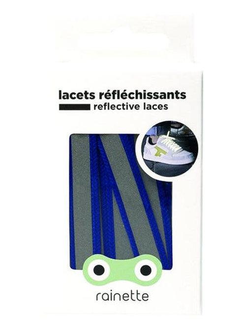 Lacets réfléchissants Bleu outremer Rainette