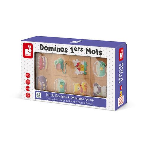 Jeu de Dominos - Dominos 1ers Mots (bois) Janod