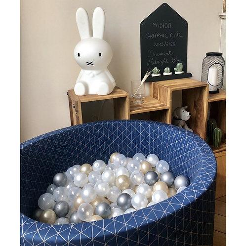Piscine à balles bleu imprimé graphic avec 200 balles Misioo