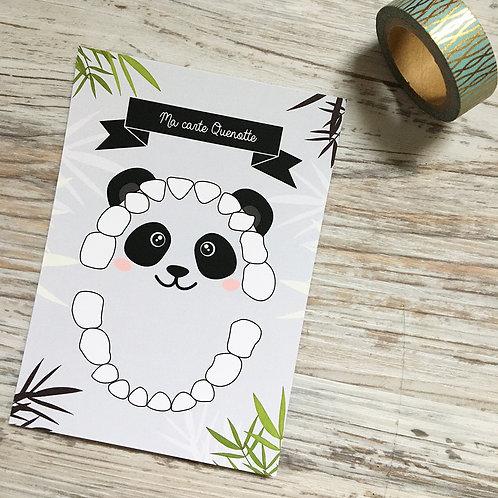 Cartes quenottes pertes ou sorties de dents Panda Little pop studio