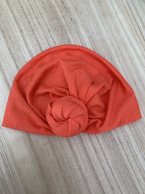Bonnet turban à noeud Corail MademoiselleBeuZ