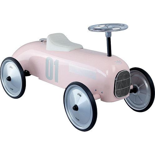 Porteur voiture rose tendre Vilac