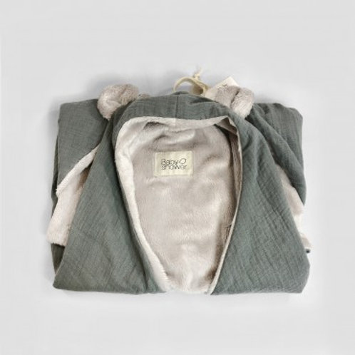 Couverture Teddy grey power Baby shower