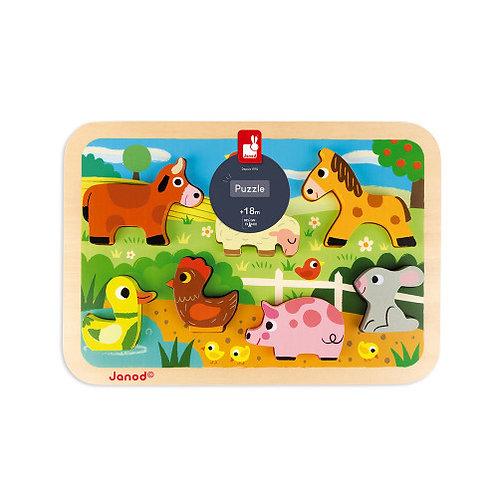 Chunky Puzzle Ferme 7 pcs (bois) Janod