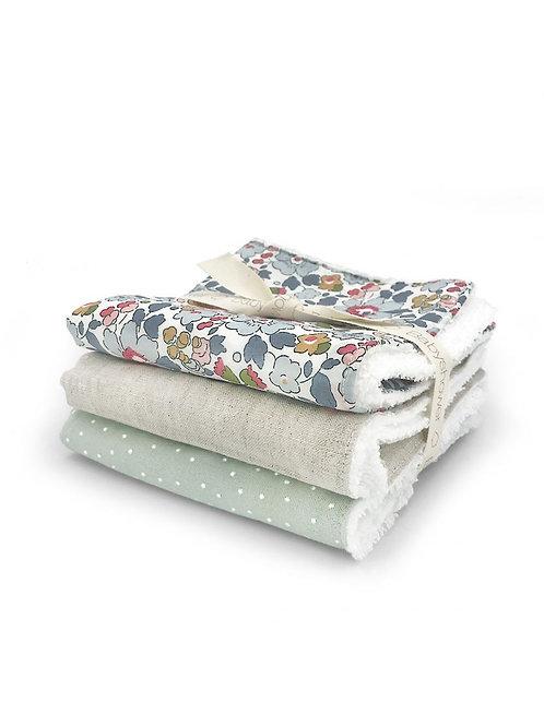 Lot de serviettes liberty betsy Babyshower