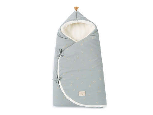 Nid d'ange hiver Cozy 0-3 mois Willow soft blue Nobodinoz