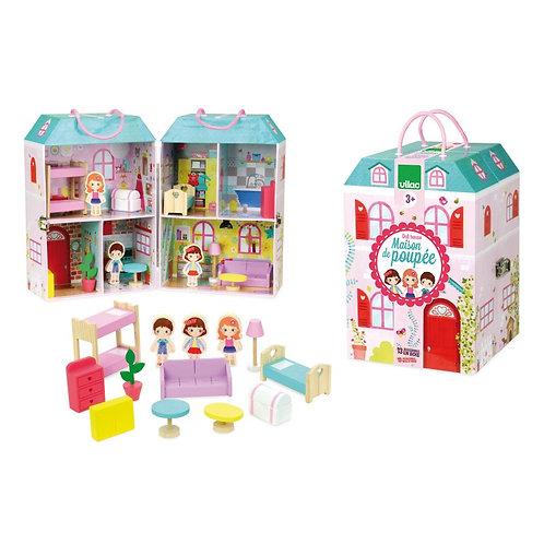 Maison de poupée en valise Vilac