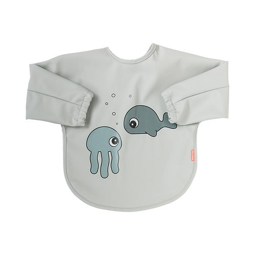 Bavoir manches 6-18m Sea friends grey Done by deer