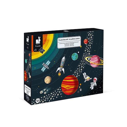 Puzzle éducatif système solaire Janod
