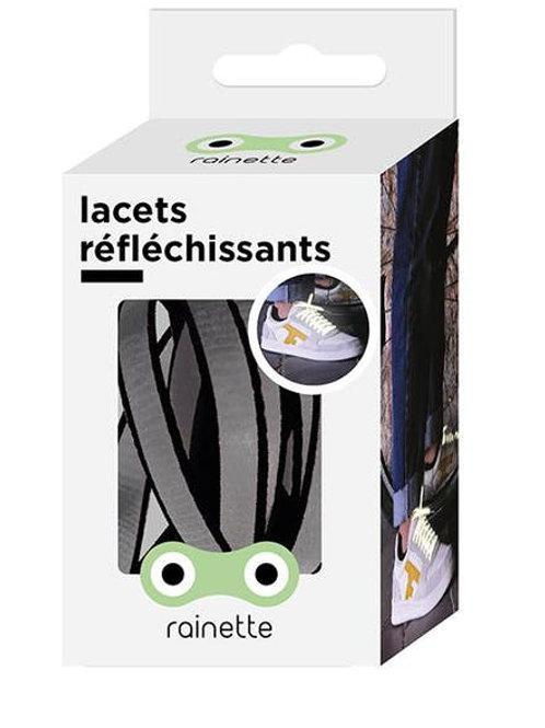 Lacets réfléchissants noir Rainette