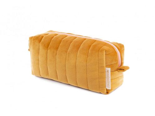 Trousse de toilette Velvet Farniente yellow Nobodinoz