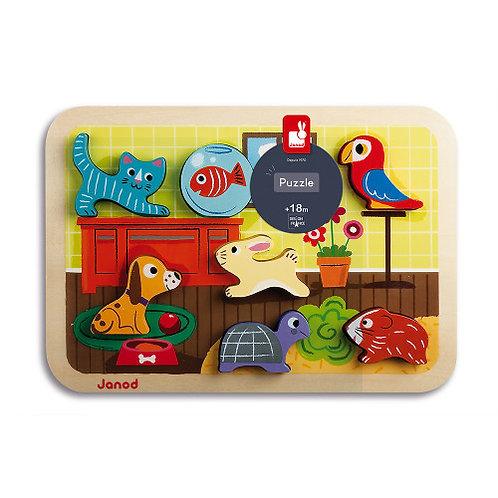 Chunky Puzzle Animaux 7 pcs (bois) Janod