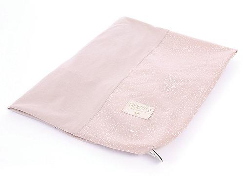 Housse de matelas à langer Calma White bubble misty pink Nobodinoz