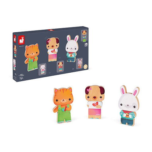Funny magnet animaux de compagnie Janod
