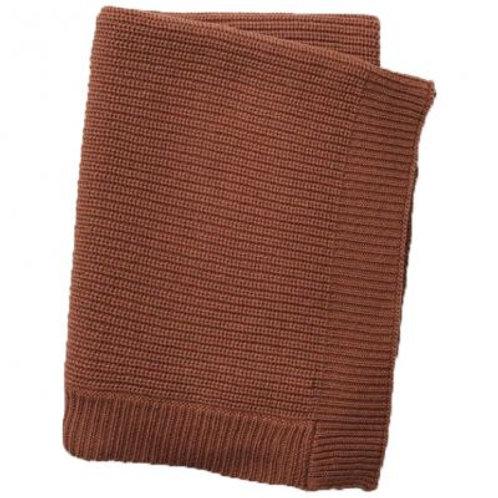 Plaid en tricot Burned Clay Elodie details