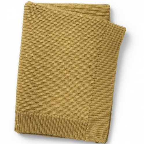 Plaid en tricot Moutarde Elodie details
