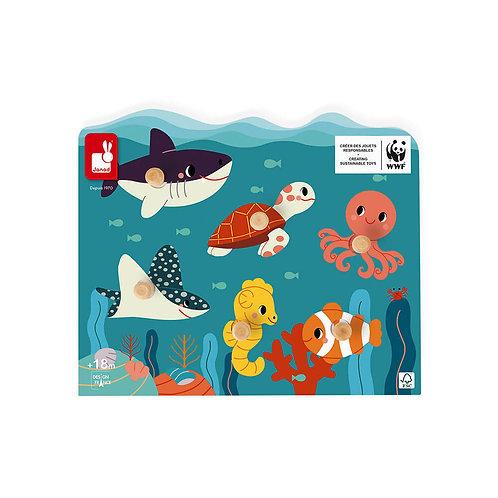 Puzzle animaux marins-Partenariat WWF®