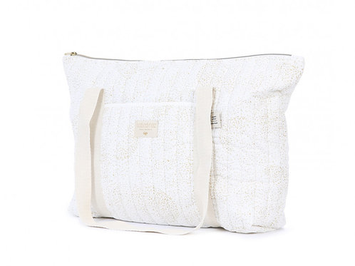 Sac de maternité Paris Gold bubble white Nobodinoz
