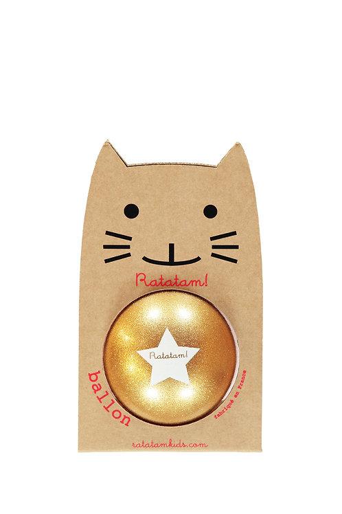 Ballon pailleté doré 15 cm Ratatam
